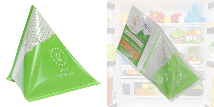 Поглинач запахів для холодильника Пірамідка ВОЛОЖКА™