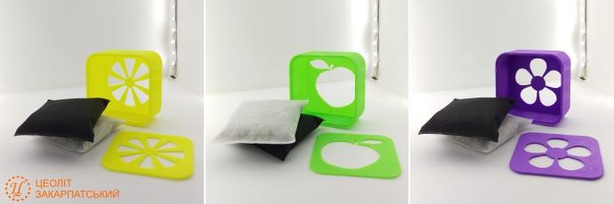 Поглинач запахів для холодильника ВОЛОЖКА™ зі змінними наповнювачами